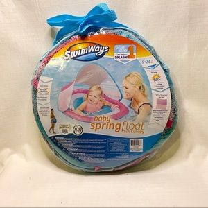 Swimways Baby Spring Float with Shade Cover